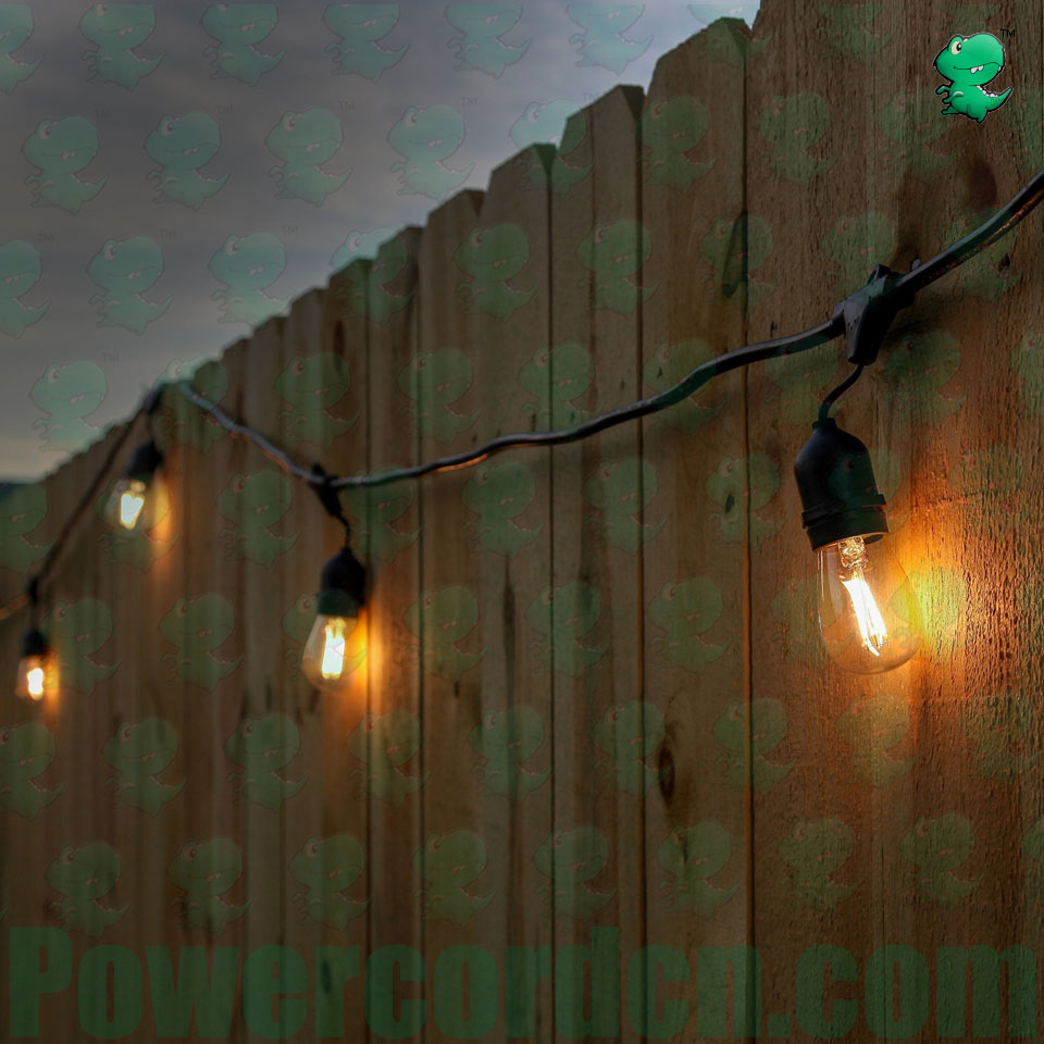 Lighting System LED Outdoor Weatherproof Commercial Grade String Lights WeatherTite Technology 2 watt LED Bulbs Included