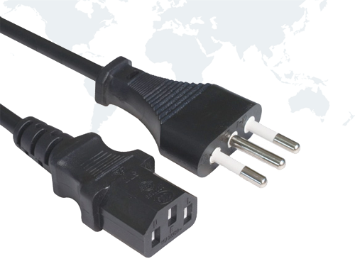 Italy Power cords IMQ02 end IEC 60320 C13