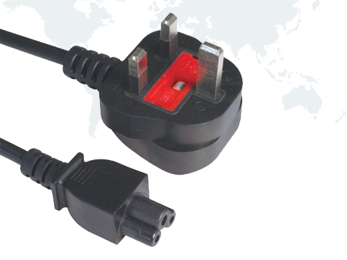 UK Computer Plug BSI Power Cords end IEC C5