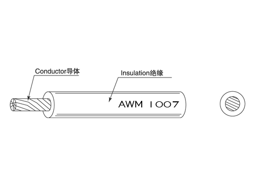 UL Wiring 1007 300V 80C Single Conductor with Extruded Insulation